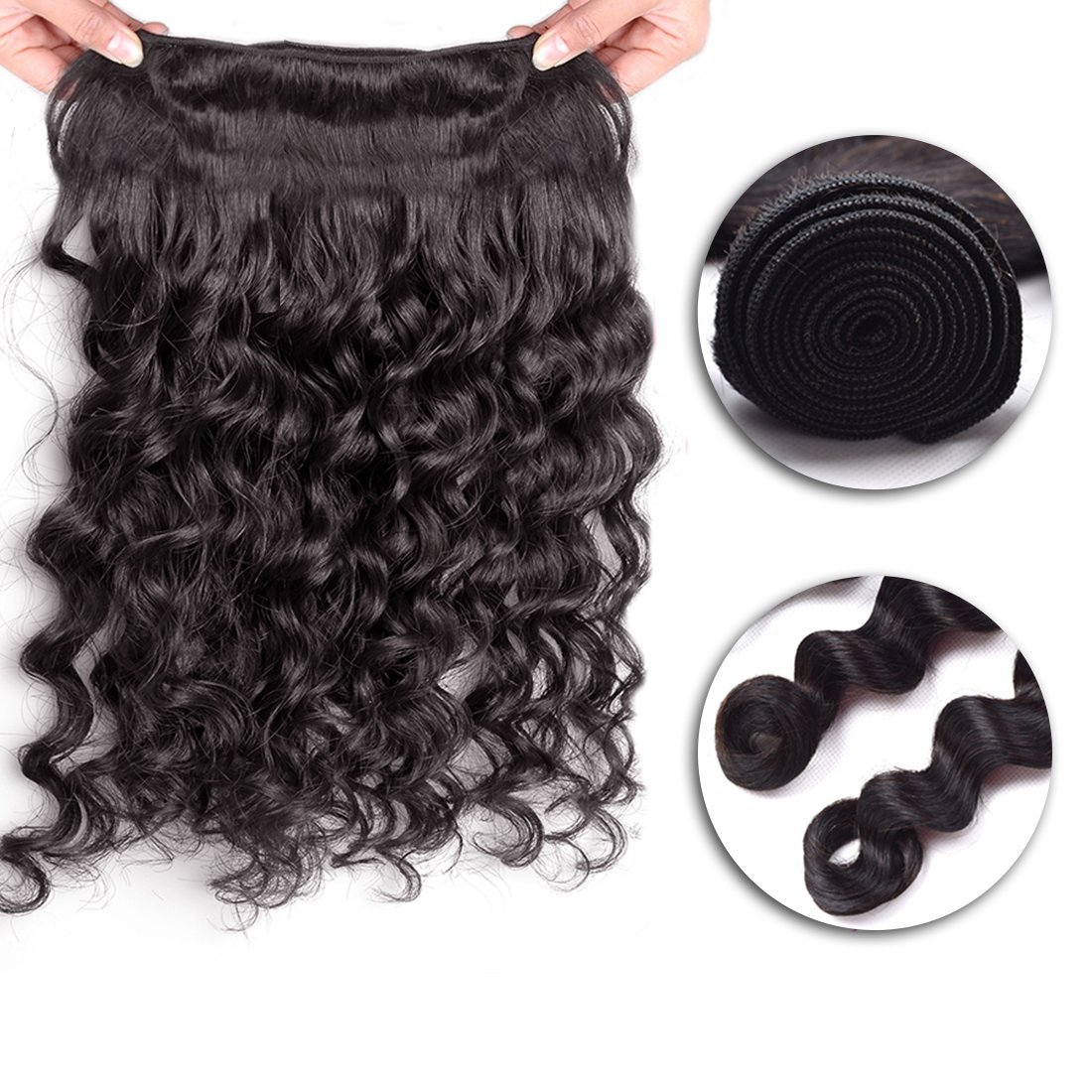 Brazilian Loose Curl Hair Weft Open
