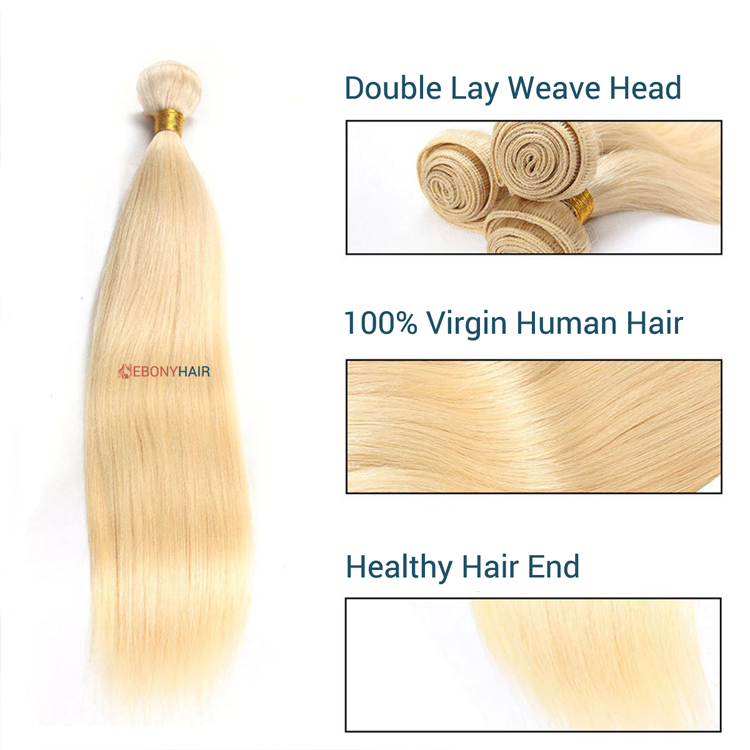 Blonde 613 Brazilian Straight Hair Details