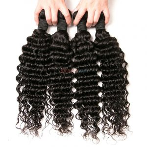 cheap Brazilian deep wave weave bundles