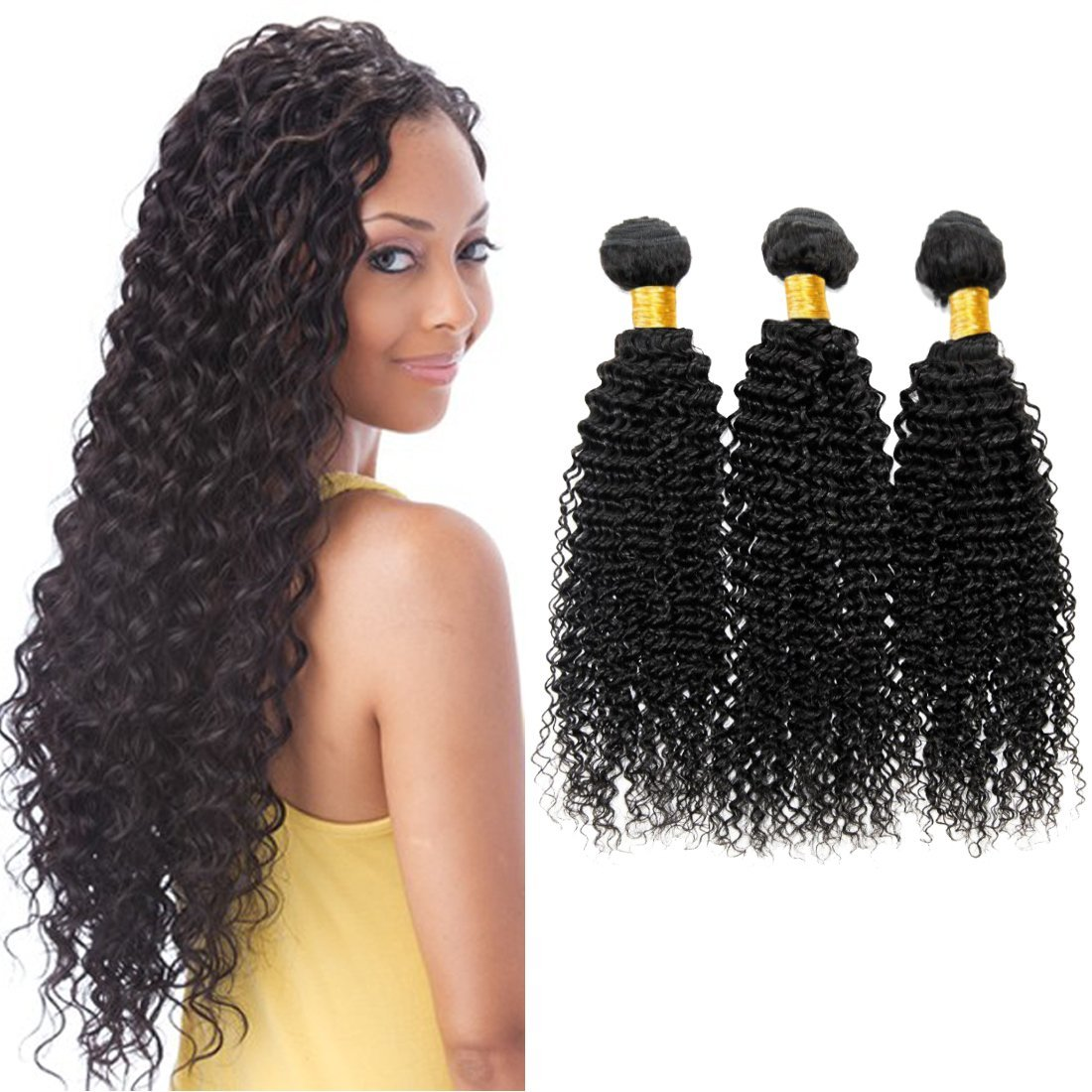 Brazilian Deep Wave Hair 3 Bundles for Black Women