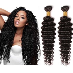 10 inch curly Brazilian hair for black women