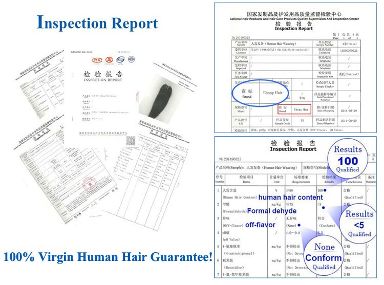 100% Human Hair Inspection Report