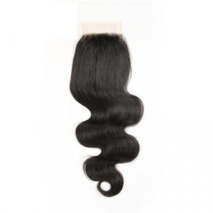 Free part 4×4 Brazilian body wave lace closure