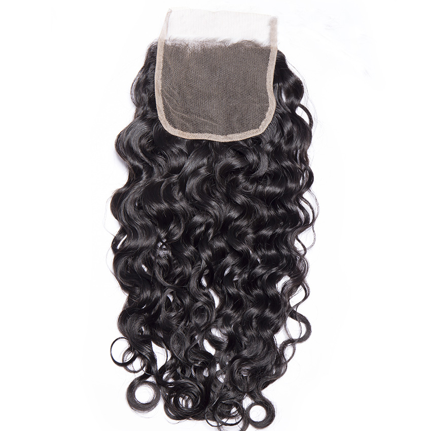 Free Part 4x4 Brazilian Italy Wave Lace Closure
