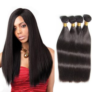 100 percent Brazilian straight human hair weave