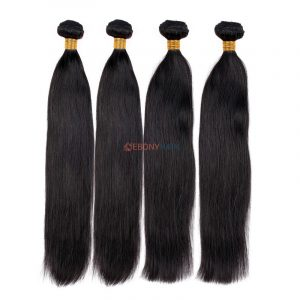 ebony hair extensions straight Brazilian bundles