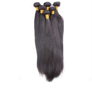 raw 100% natural straight Brazilian hair extensions