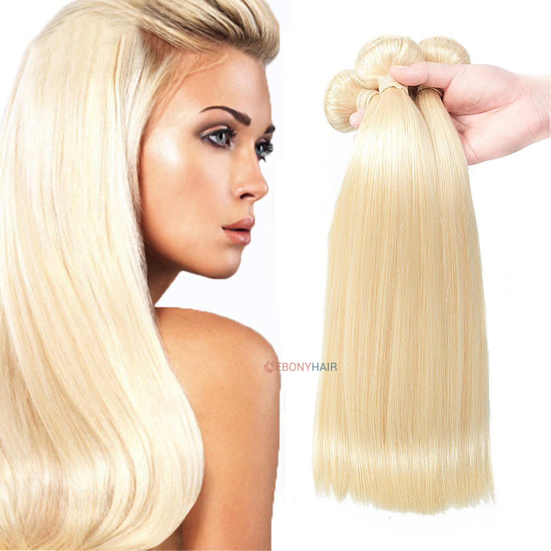 Blonde 613 Brazilian Straight Hair for White Women
