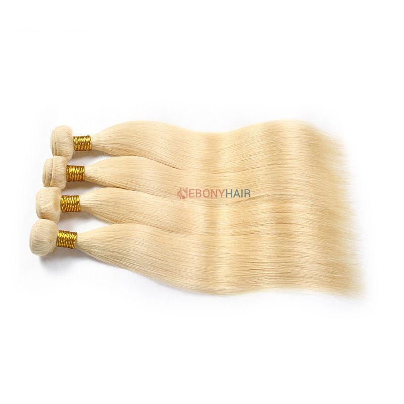 Blonde 613 Brazilian Straight Hair 4 Bundles