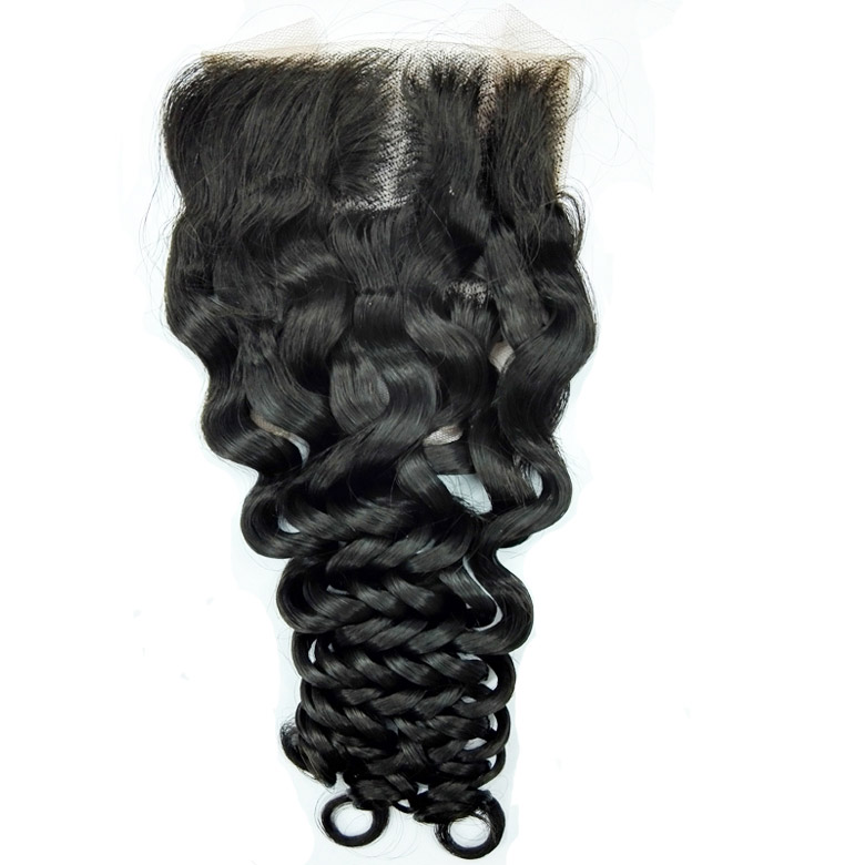 Brazilian hair italy wave lace top closure