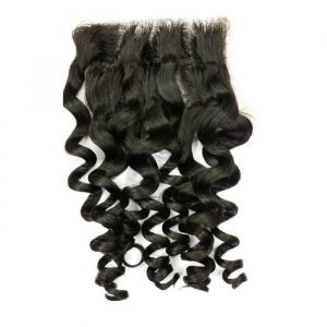 Free part 4×4 Brazilian loose wave lace closure