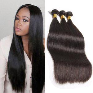 Silky Soft Unprocessed Virgin Brazilian Straight Hair Bundles for Sale