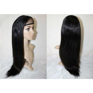 100% human hair Brazilian straight lace front wig
