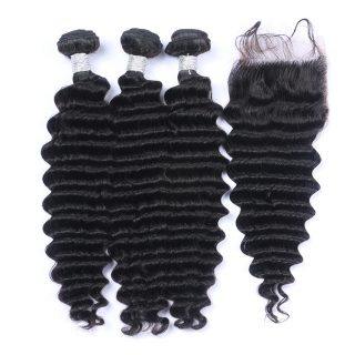 Free Sample 100% Virgin Hair Deep Wave Double Drawn Cambodian Human Hair Bundles Cambodian Loose Deep Wave Hair Weave