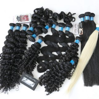 High quality unprocessed wholesale virgin Cambodian straight hair  one donor hair cuticle aligned remy human hair weft color 350