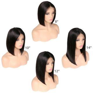 Wholesale Price Blonde Bob Wig Peruvian Human Hair Lace Front Wigs for Black Yellow White Skin Women