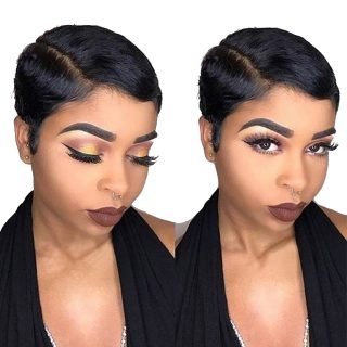 Joedir Burgundy Pixie Cut Pre Plucked Straight Short Blonde Wig Human Hair For Black Women HD 613 Lace Front Wigs Human Hair