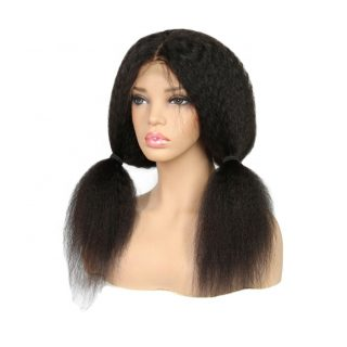 Real Hair Lace Headgear Human Hair Kinky Straight Real Wig