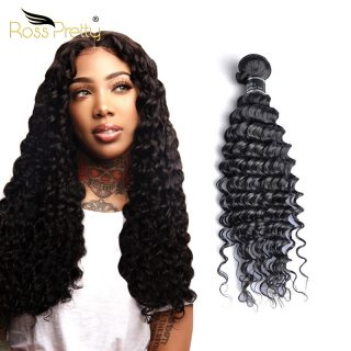 Ross Pretty  Vietnamese  Human Hair Bundles Cambodian Deep Wasve Hair Weaving Virgin Brazilian Hair No Shedding  Bundles
