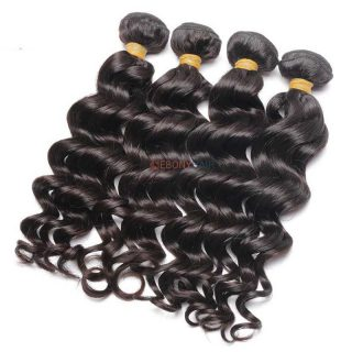 natural human Brazilian loose wave hair weave bundles