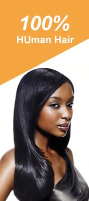 100% human hair banner