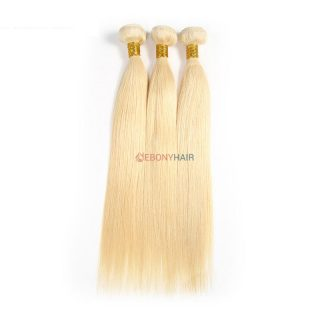 613 Brazilian blonde straight hair weave