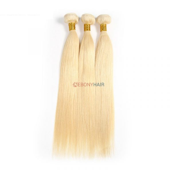 613 Brazilian blonde straight hair weave