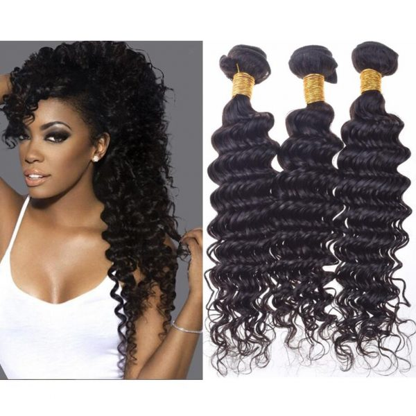 Virgin Brazilian Deep Wave Hair Bundles Deep Wave Brazilian Hair for Black Women